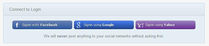 Social Networks API Login